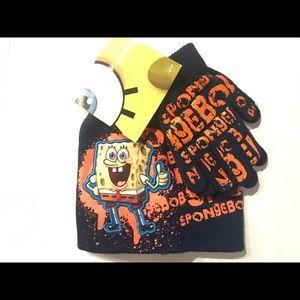 Sponge Bob Boys' Hat and Glove Set.